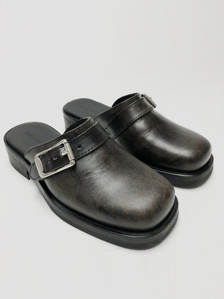 Our Legacy Camion Mule - Worn Black Leather