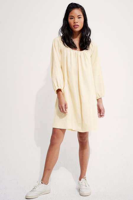 back beat rags Rory Linen Dress - Creme