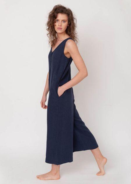 beaumont organic Gianna Jumpsuit - Navy