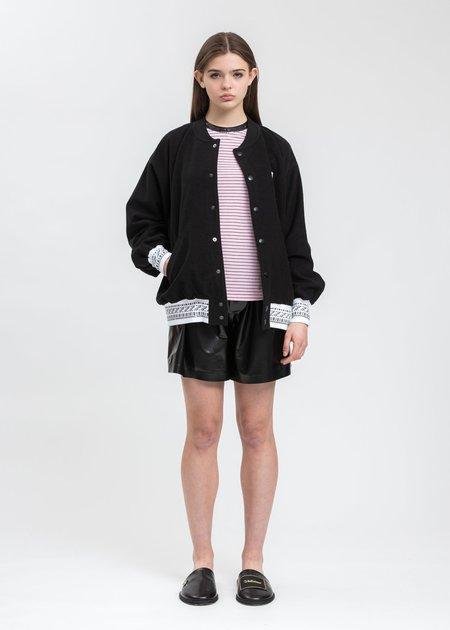 we11done Sequins Trim Neck Stripe Long Sleeve - Pink