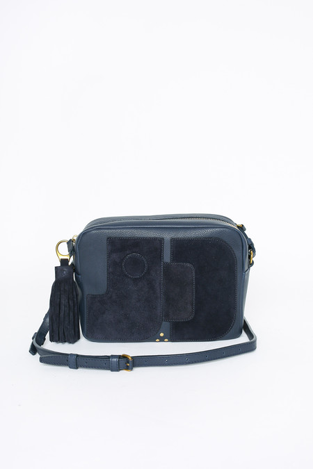 Jerome Dreyfuss Dominique Shoulder Bag in Marine