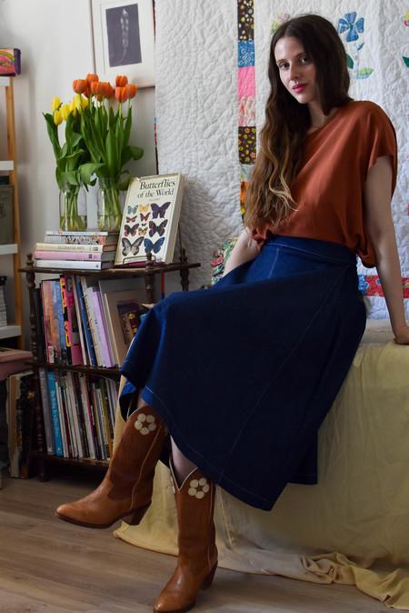 Eliza Faulkner Winnie Skirt - Denim