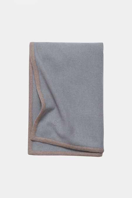 Oyuna Arte Cashmere Throw - Blue/Taupe