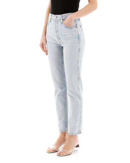 RE/DONE Straight Cut Denim Jeans - Light Blue