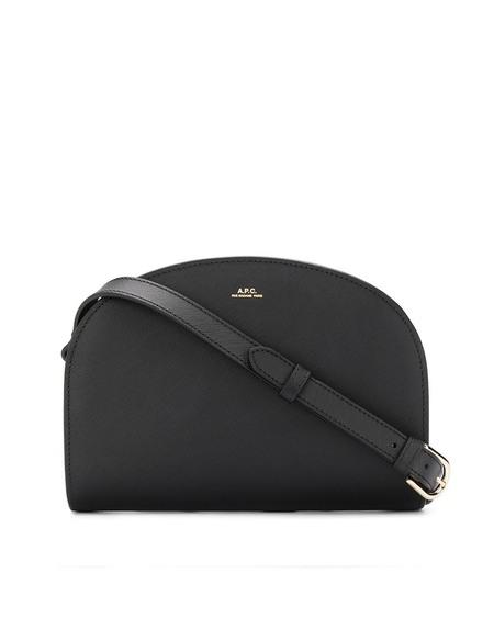 A.P.C. Demi Lune Leather Bag - Walnut Black