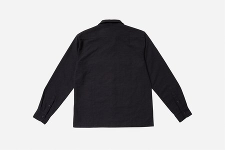 3Sixteen Jacquard Camp Shirt - Black