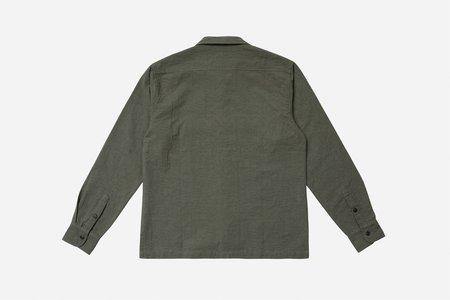 3Sixteen Jacquard Camp Shirt - Olive