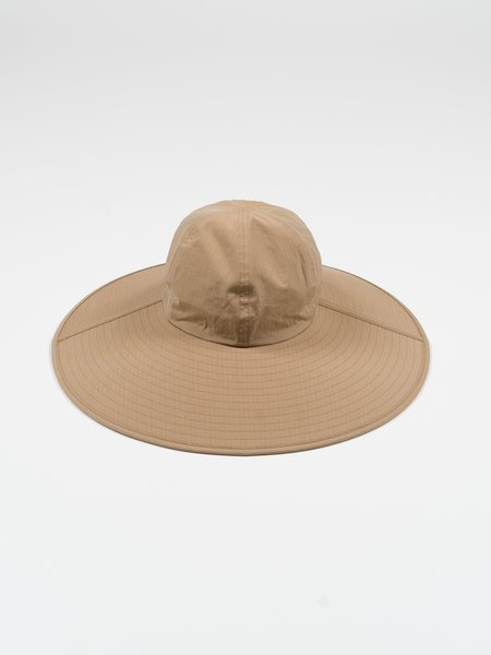 Auralee Washed Finx Ripstop Chambray Sun Hat - Beige