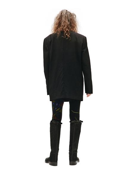 Y's Black Wool Jacket With Raw Hems