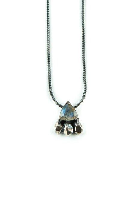 Angela Monaco Feather Spear Necklace - Sterling SIlver/Labradorite