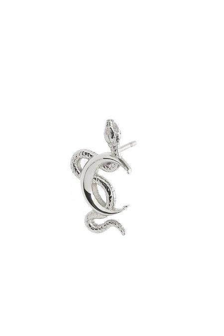 Talon Snake Moon Stud - sterling silver