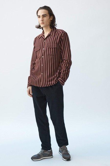 Corridor Twisted Stripe Flannel top - Raisin