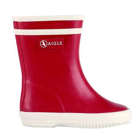 kids Aigle  Flac Rain Boot - Red/White
