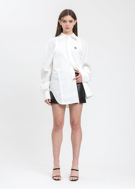 we11done Tank Top Detail Shirt - White