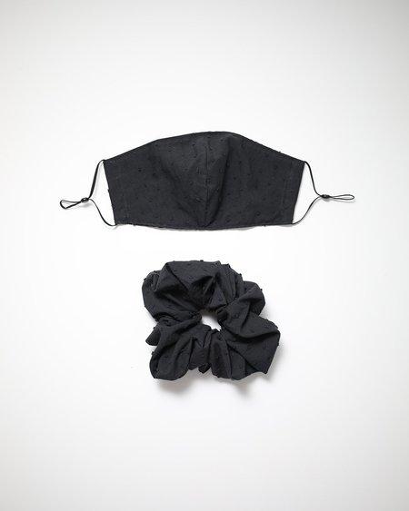 Bronze Age Mask + Scrunchie Set - Swiss Dot