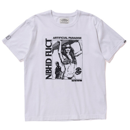 FUCT SSDD X NEIGHBORHOOD NHFU 2 T-SHIRT SS - WHITE