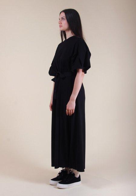 Building Block Origami Dress - Black