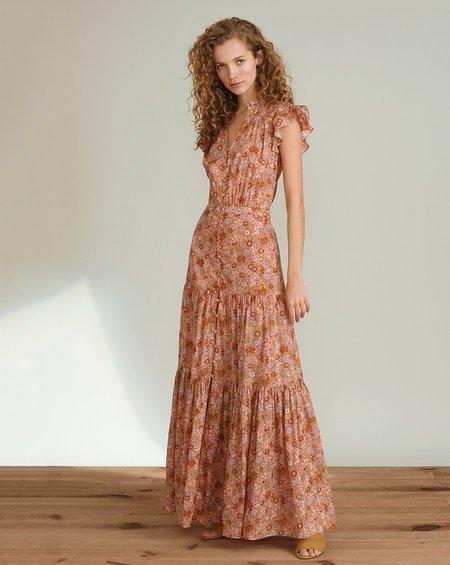 Veronica Beard Floral Satori Dress - Coral