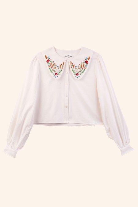 Meadows Foxglove Shirt -  Multi Embroidery