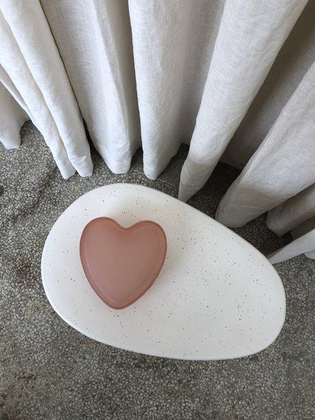 Vintage LOVE HEART TRINKET BOX decor - brown