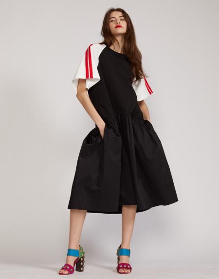 Cynthia Rowley Double Stripe Tee Dress - REDST