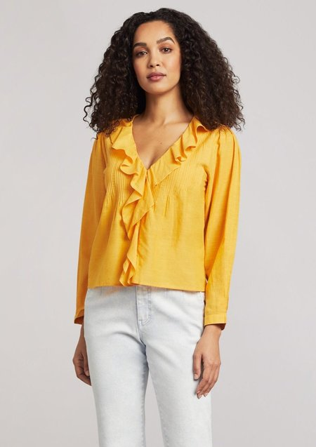 Faherty Cambria Blouse - yellow