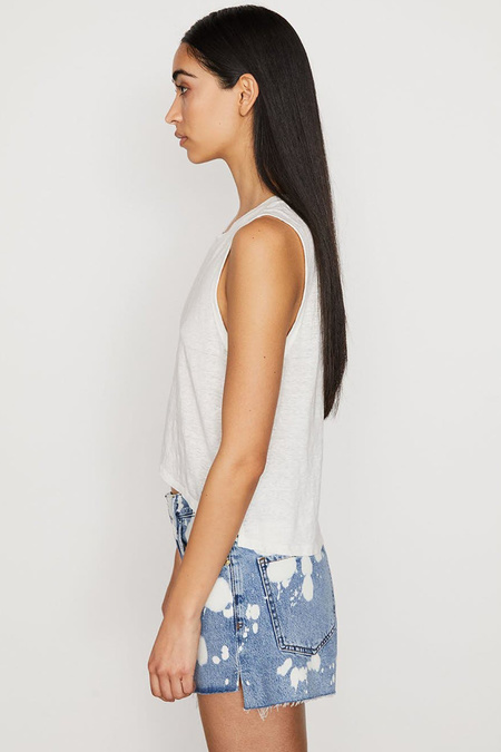 FRAME Swingy Muscle Tee - Blanc