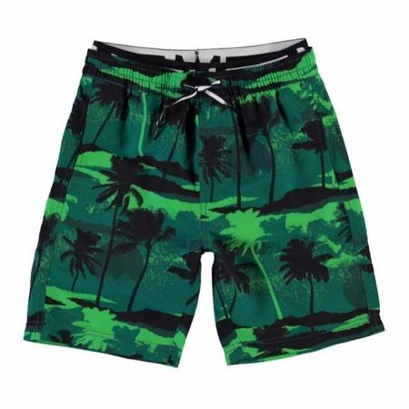 kids molo neal swim shorts - palm trees green