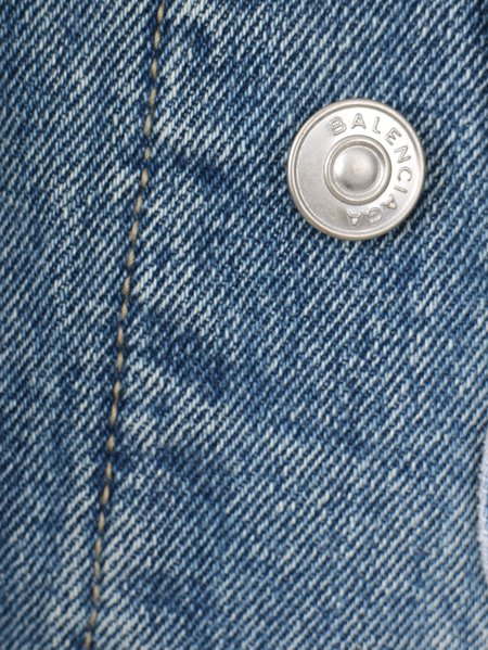 Pre-loved balenciaga jean jacket - blue denim