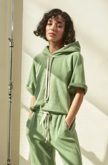 amo denim S/S Raglan Hoodie - Palm Green