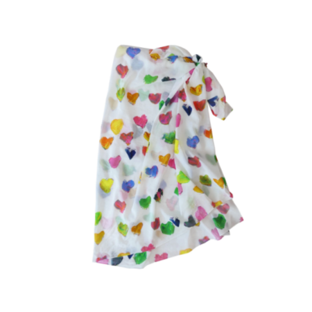 Kerri Rosenthal Tiny Drops Of Love Sarong scarf - multi