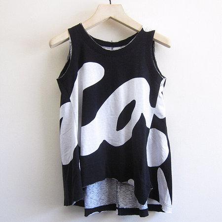 Rundholz Black Label printed cotton tank - black