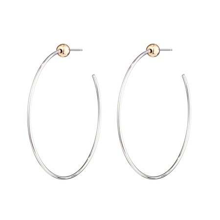 Jenny Bird Small Icon Hoops - Silver/Gold