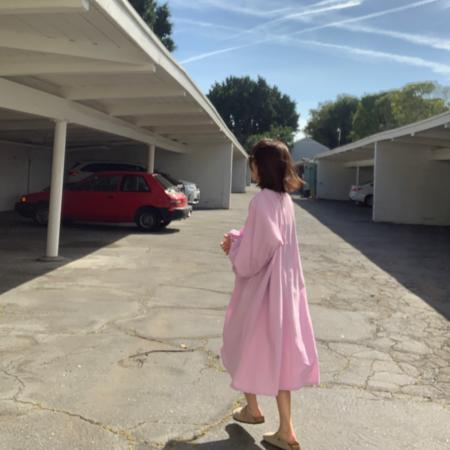 APRIL MEETS OCTOBER Ogden Dress - Baby Pink