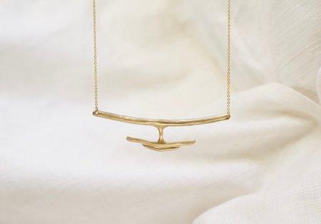 Mountainside Made Delfina Necklace - Brass/Gold