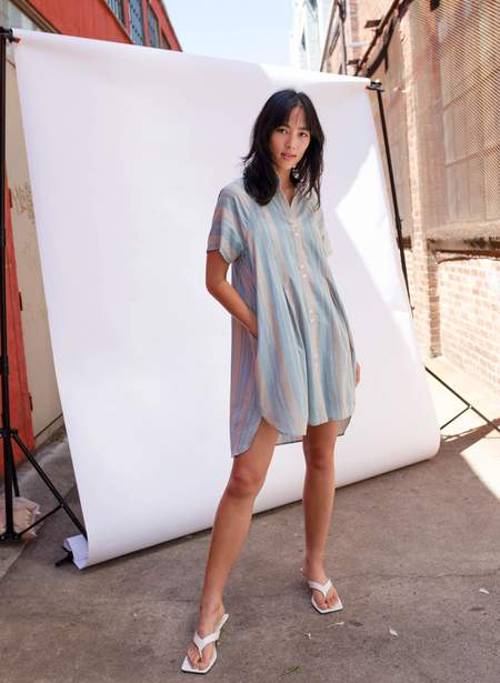 Seek Collective Brenna Dress - Cirrus Stripe
