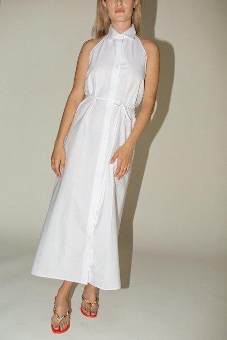 Baserange Apron Shirt Dress -  White