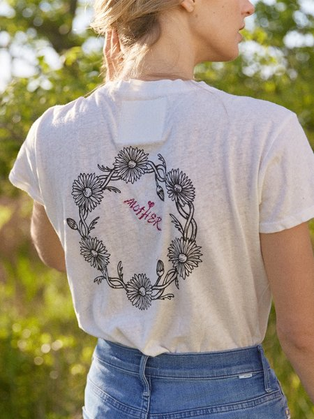 MOTHER Denim The Sinful Reap What You Sow Tee - White