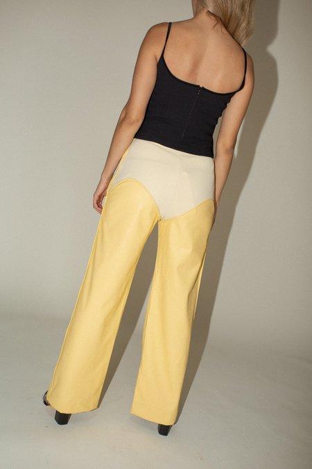 Paris Georgia Oversized Cowboy Trousers - Post-It Yellow