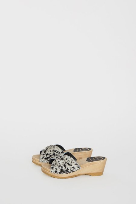 No.6 Abuela Clog on Mid Wedge - Spotted Pony