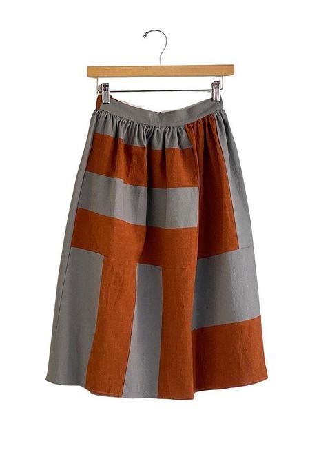 Correll Correll Becky Linen Skirt - gray