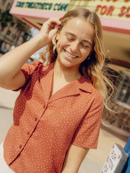 Mollusk Cotton Button Down Aloha Shirt