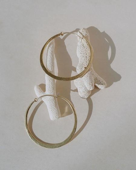 Satomi Studio Luna Hoops - Brass