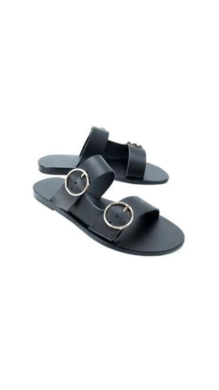 KYMA Skopelos Slip-on Sandal - Black