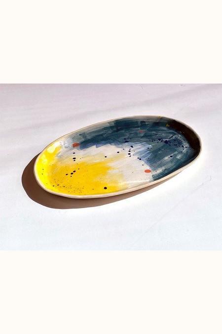 A.Cheng Sunrise Plate - Yellow/Blue