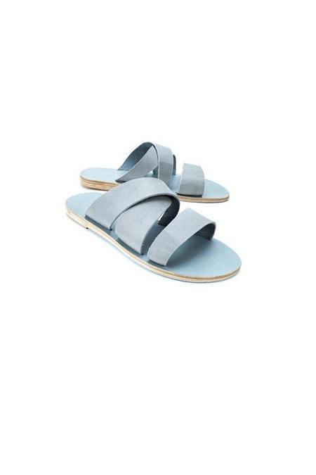 KYMA Thassos Slip-on Leather Sandal - Light Grey