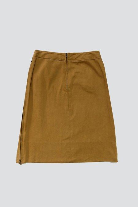 Vintage Celine Denim Zip Skirt - Honey