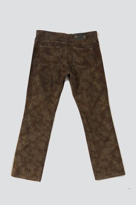 Vintage Tod Oldham Clay Snake Pants - Brown