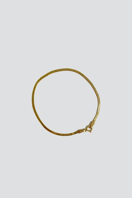 Vintage 14K Herringbone Bracelet