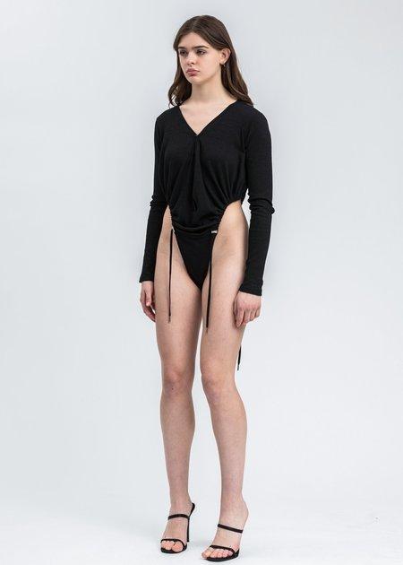 Y/project Long Sleeve Bodysuit - Black